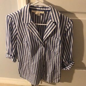 Anthropologie buttonup striped blouse. Size 0.